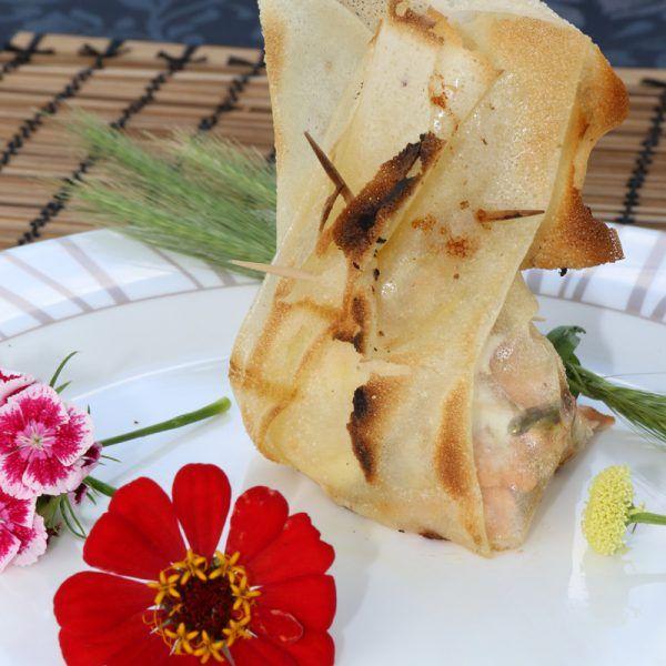 Aumônière de saumon fumé, sauce à l'oseille, cuisson barbecue  | Prestige Barbecue