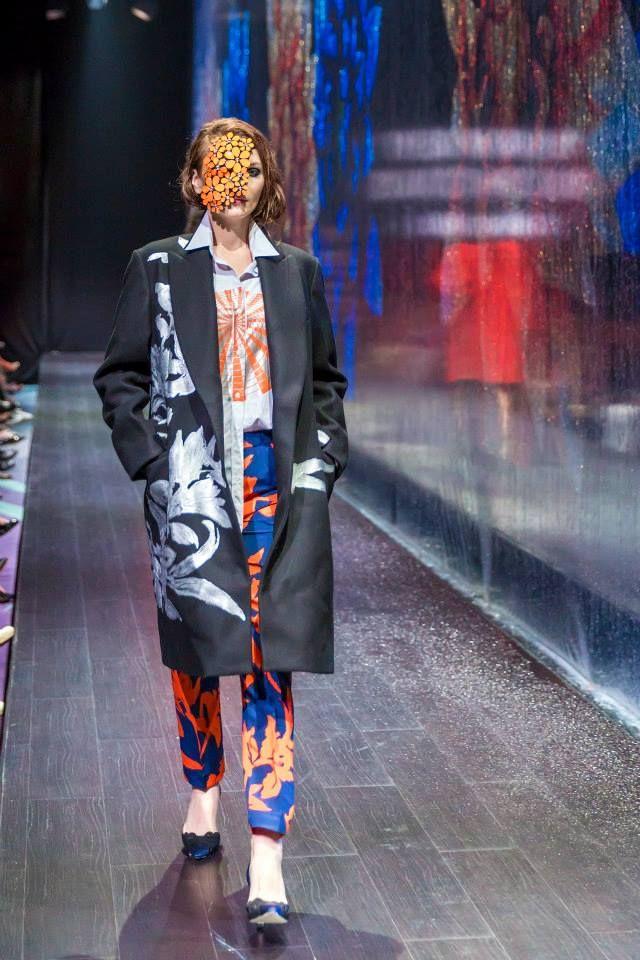 Dries Van Noten (coat, shirt & trousers) and Manolo Blahnik (shoes) at Harvey Nichols - Dubai