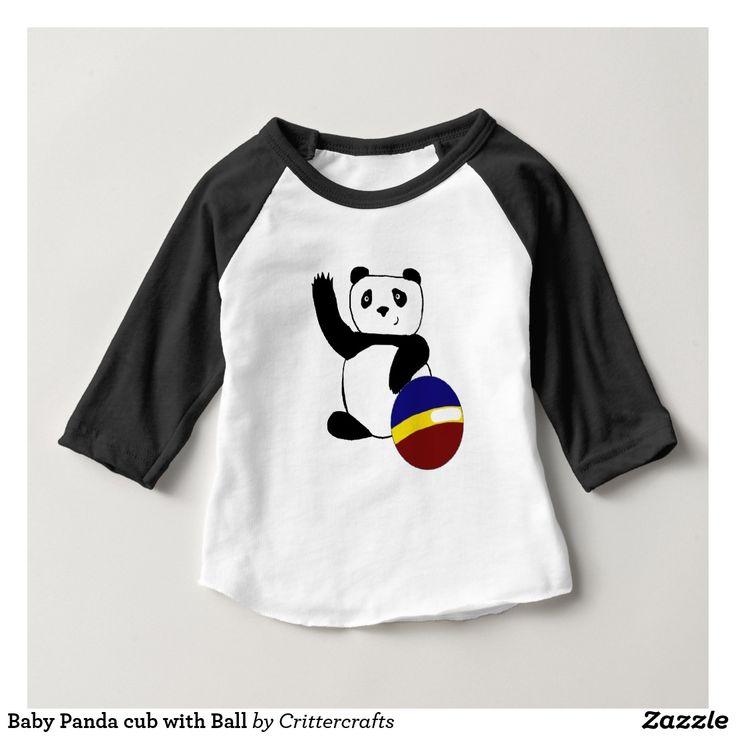 Baby Panda cub with Ball Baby T-Shirt