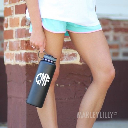Monogrammed Stainless Water Bottle | Marleylilly