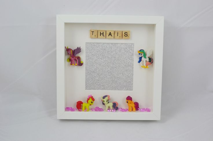 A personal favourite from my Etsy shop https://www.etsy.com/uk/listing/292927605/personalised-my-little-pony-photo-frame