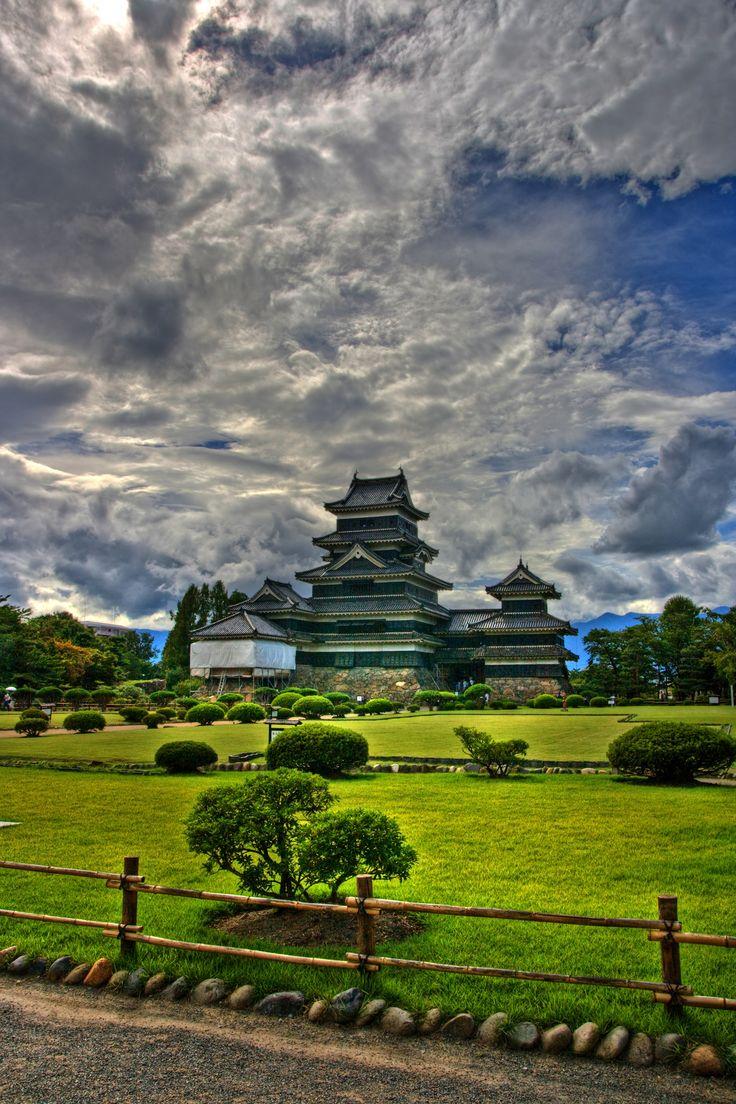 Matsumoto castle gardens, Japan,by el_jorpe  #Matsumoto #Japan #castle #Matsumoto-jo #tone mapping #HDR #outdoor