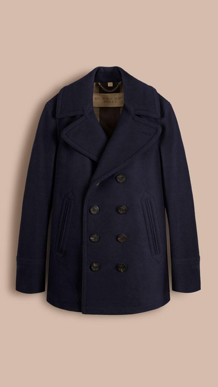 Pea Coat Eckford de lã e cashmere Azul Marinho | Burberry