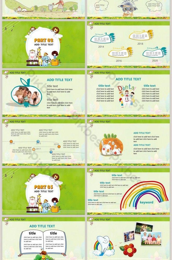 Template Ppt Pencegahan Dan Perlindungan Kesehatan Gigi Anak Anak Powerpoint Templat Pptx Unduhan Gratis Pikbest Powerpoint Word Word Template Templates