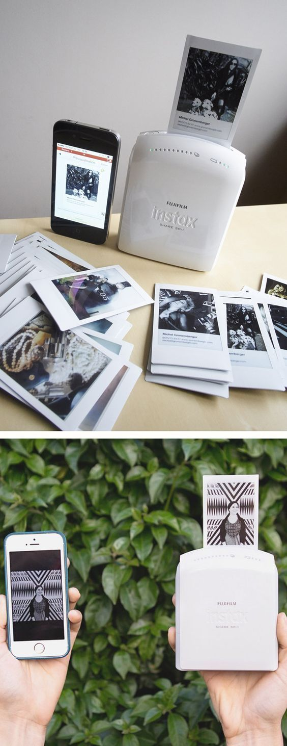 Print the pictures from your Smartphone the Polaroid style: Fujifilm Instax Share Smartphone Printer SP-1 - www.MyWonderList.com #smartphone #printer:
