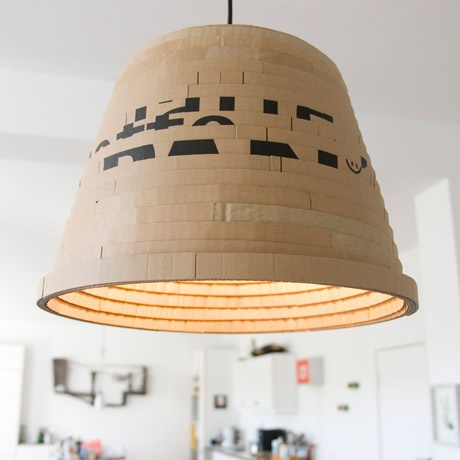 Upcycled Cardboard Beute Lamp by dua | MONOQI