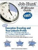 "@ExecutiveResumeBranding.com:  Download Meg Guiseppi's FREE e-book (Second Edition): ""Executive Branding and Your LinkedIn Profile: How to TransformYour Executive Brand, Resume, and Career Biography Into a Winning LinkedIn Profile"".     Meg Guiseppi is a C-level Executive Job Search Coach"