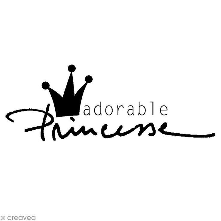 Tampon Naissance Adorable princesse 5,7 x 2,5 cm