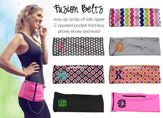 Monogrammed Fusion Belt Running Belt Personalized by PreppyCo
