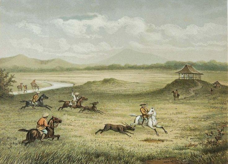 Josias Cornelis Rappard - Berkuda berburu kijang di Bogor