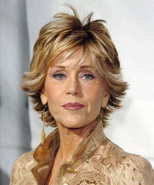 jane fonda short layered hairstyle NOT crazy about the flippy thing.