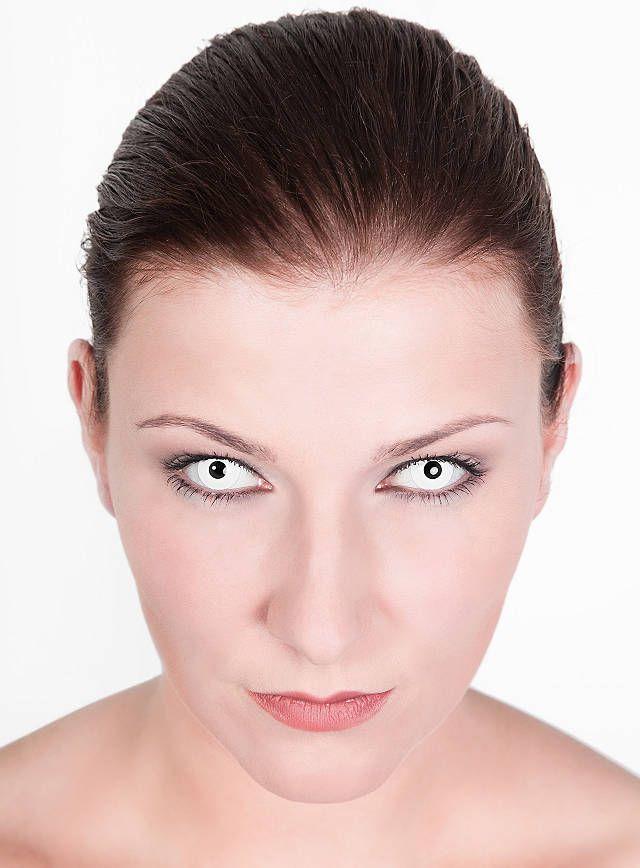 Weiße Kontaktlinsen - Untoter   online kaufen  #contactlenses #white #ghost #undead