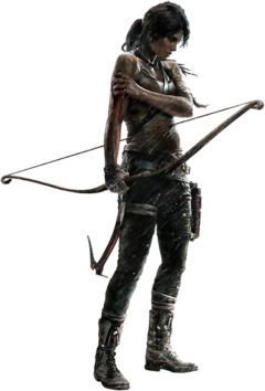 Lara Croft. Love this game and the way they redid her character