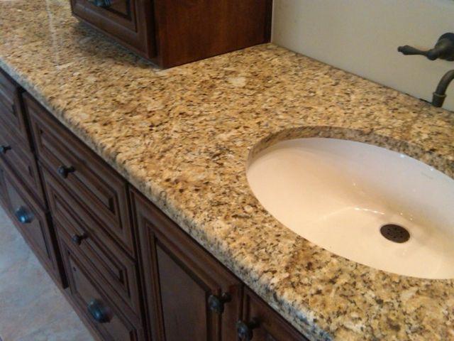 Venetian Gold Granite Bathroom Countertop