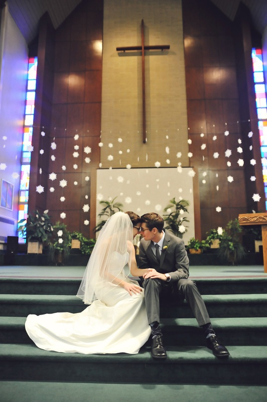 The snowflakes made a perfect backdrop! Photo Credit: Rachel Gabrielse Photography