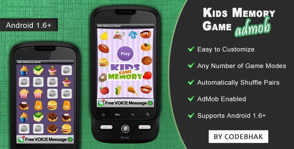 Kids Memory Game with AdMob - CodeCanyon Item for Sale