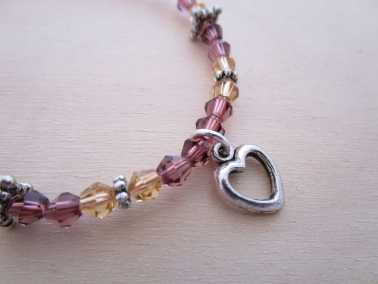 Indy Charm with Heart Bracelet by NovemberSunset on Etsy