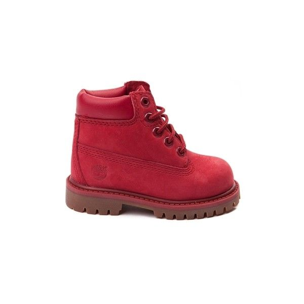 """Toddler Timberland 6"""" Classic Boot ($99) ❤ liked on Polyvore featuring baby, shoes, baby boy and baby shoes"""