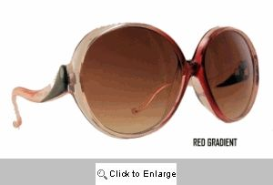 Nicole's Oversized Round Vintage Sunglasses