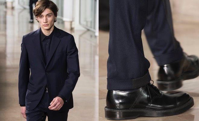 Abito blu abbinamento scarpe francesine