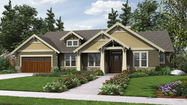 Top 25 ideas about craftsman ranch on pinterest house for Patio home plans ranch