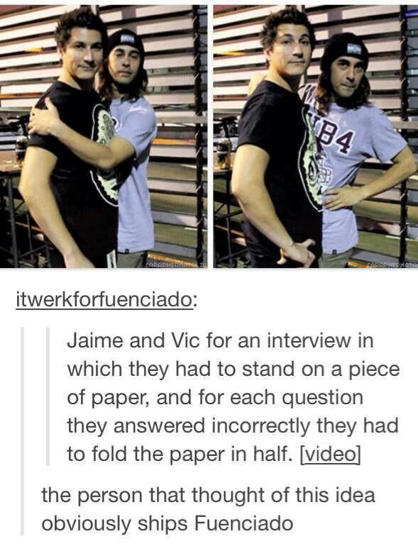 haha lol Vic and Jaime This is the link to the interview BTW: http://youtu.be/GnFfEDq1JM0   /// CUTIES