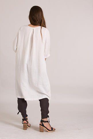 JUDE SHIRRING DRESS | White