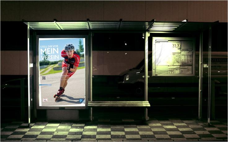 """campaign """"mein verein"""" // city-light // designed for the german landessportbund nordrhein westfalen"""