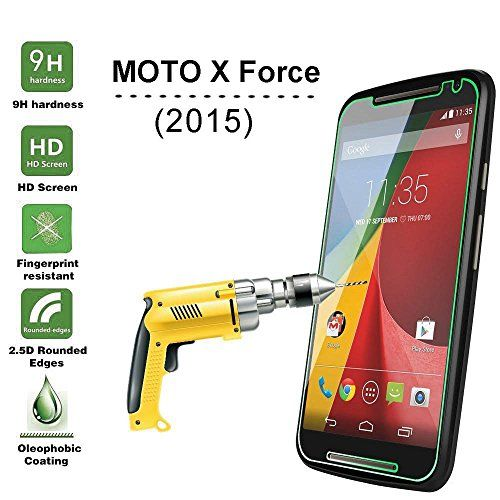 DN-TECHNOLOGY® [1 PACK IN STOCK] MOTOROLA MOTO X FORCE Tempered Glass (2015 RELEASE) Premium Quality Tempered-Glass Screen Protector for New MOTOROLA MOTO X FORCE [GLASS Ultra Thin Display] Lightweight Rounded Edge Hardness up to 9H (harder than a knife) - MOTO X FORCE TEMPERED GLASS SCREEN PROTECTOR DN-TECHNOLOGY® http://www.amazon.co.uk/dp/B01868SM16/ref=cm_sw_r_pi_dp_Z5Uvwb11VRBH4