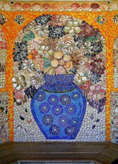 Tresco Abbey Gardens, Scilly Isles, UK | Garden mosaic design made from sea shells (6 of 12) by ukgardenphotos, via Flickr