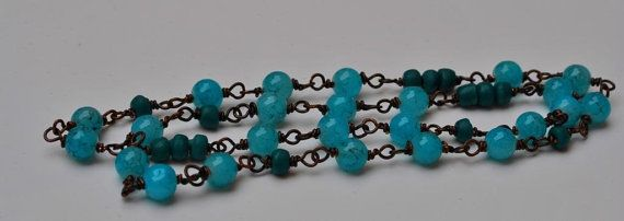 Vibrant Turqouise Necklace by MixNBeads on Etsy, $15.00