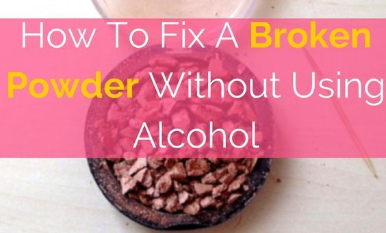 Have you ever wondered How To Fix A Broken Powder Without Using Alcohol ? well I have the answer and it's so easy!! You literally need one thing...