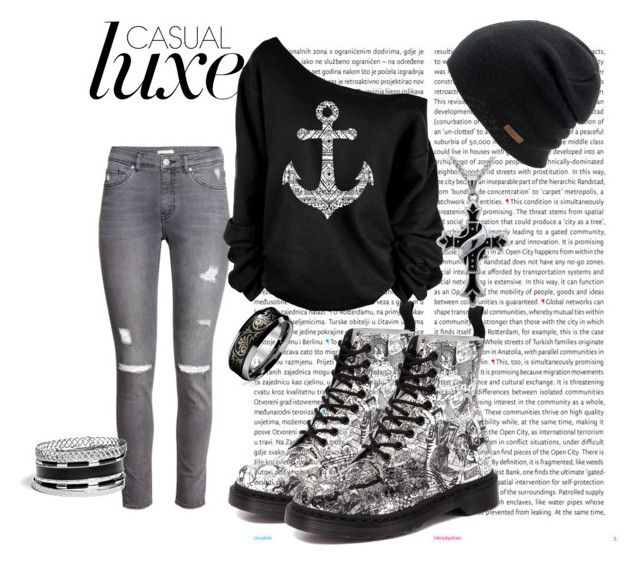 casual by stelamahomie on Polyvore featuring H&M, Dr. Martens, GUESS, Coal and Oris