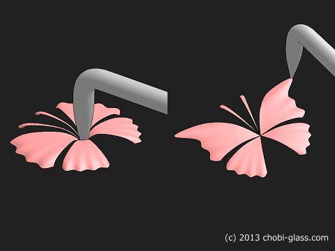 かんたんな「蝶」のパーツ-03
