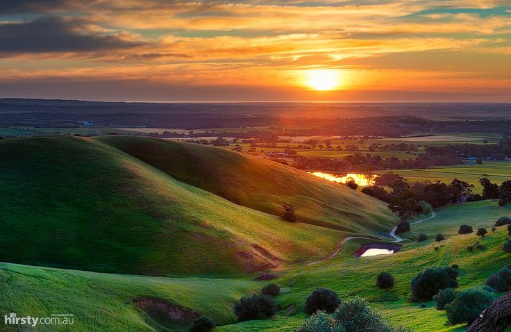 'Rolling Hills', Barossa Valley - stunning sunset, wine country in South Australia. Hirsty Photography