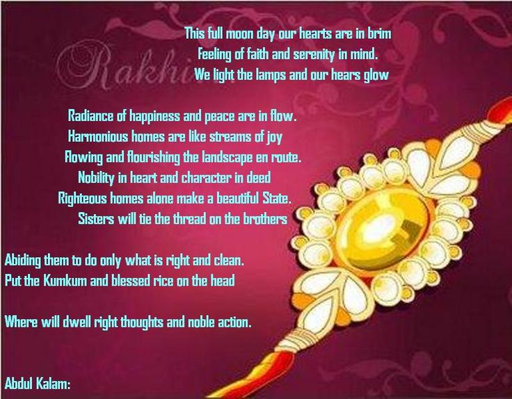 Raksha Bandhan 2016 Messages