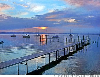 Best Places to Retire 2012 Traverse City, MI - Retiring to the water doesn't have to mean giving up four seasons or downsizing to a tiny condo. In Traverse City, residents enjoy miles of sandy beaches and all the spoils of Lake Michigan and nearby inland lakes.