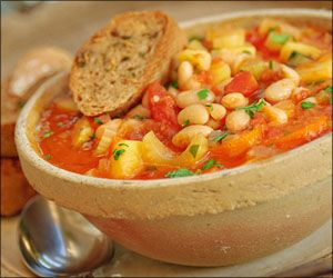 Ribollita-veggie and white bean soup. great for the upcoming fall I think.