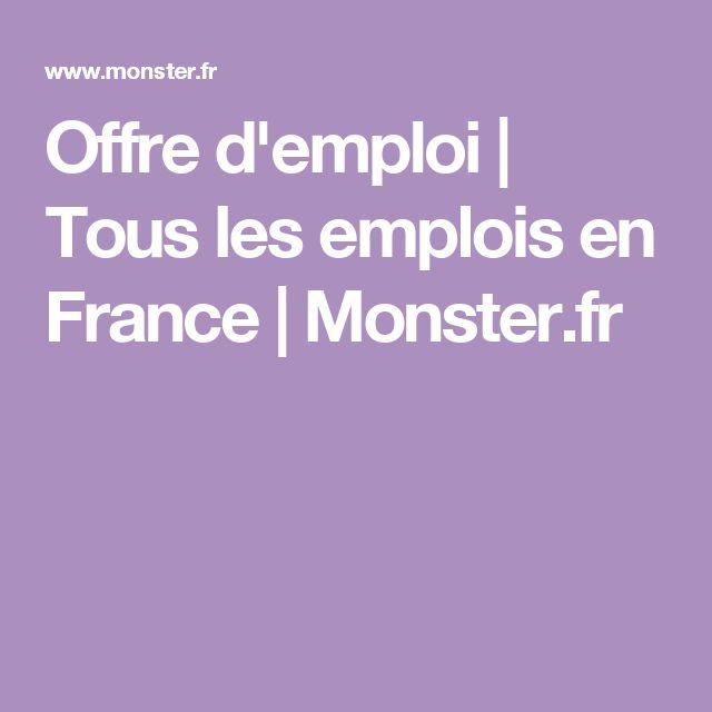 Offre d'emploi | Tous les emplois en France | Monster.fr