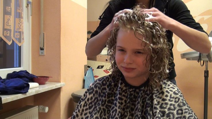 Girl Being Permed Curly Hair Styles Perm Hair Styles