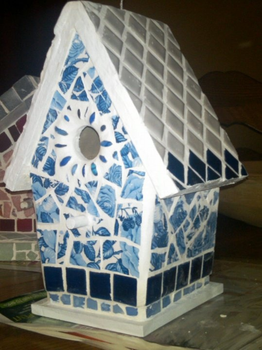 17 Best Images About Mosaic Birdhouses On Pinterest