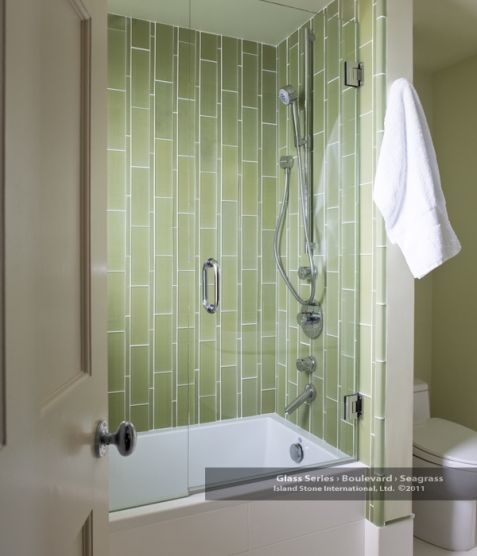 Vertical Tile Application Can Create Length In An Otherwise Small Shower Space