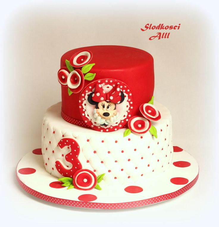 Minnie Mouse Cake by Alll
