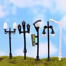 10pcs/set Cute Resin Crafts Decorations Miniature Streetlights Fairy Gnome Terrarium Christmas Xmas Party Garden Gift LH1874(China (Mainland))