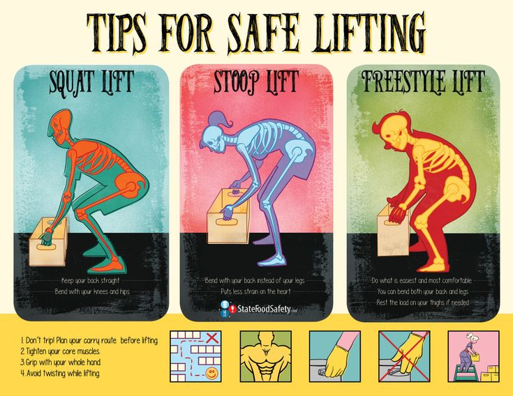 Tips For Safe Lifting Poster Food Safety Posters