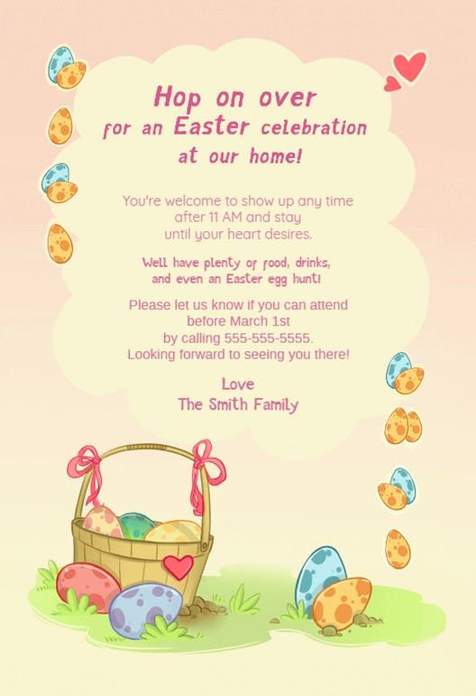 Best Easter Invitations Templates Images On