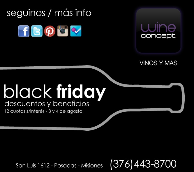 Black Friday, descuentos y beneficios en WineConcept