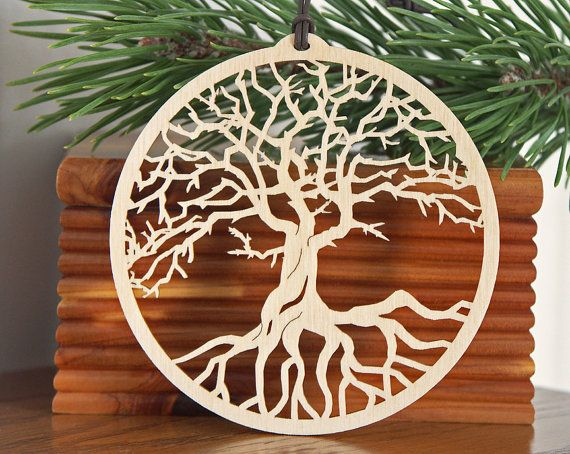 Tree of Life ornament wood hanging decoration by CardNotions, $6.75