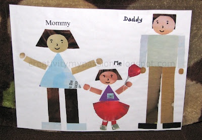 Shape Collage: My Family | Craft To Art