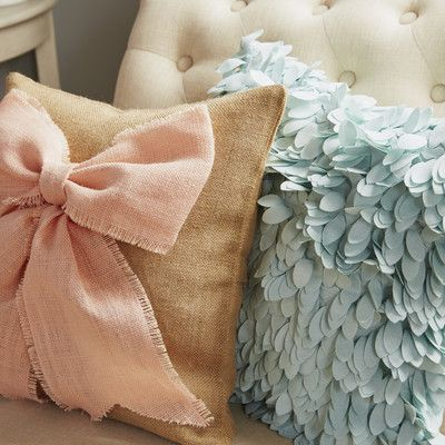 Found it at Wayfair - Luanna Ruffle Synthetic Throw Pillow